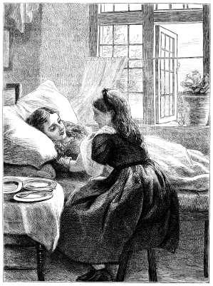 Girl at Bedside